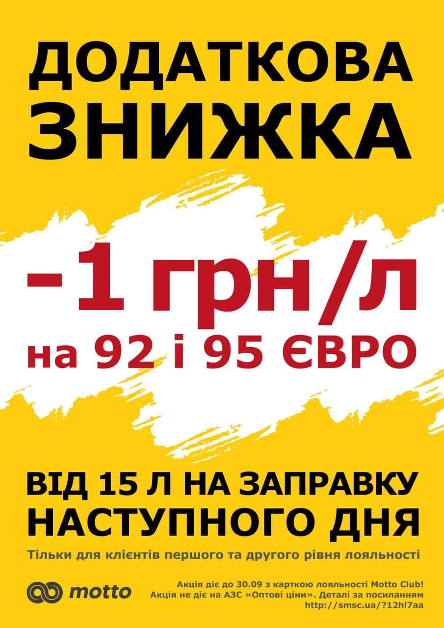 """Акція """"Індивідуальна винагорода на 92 и 95 БНЗ євро"""""""